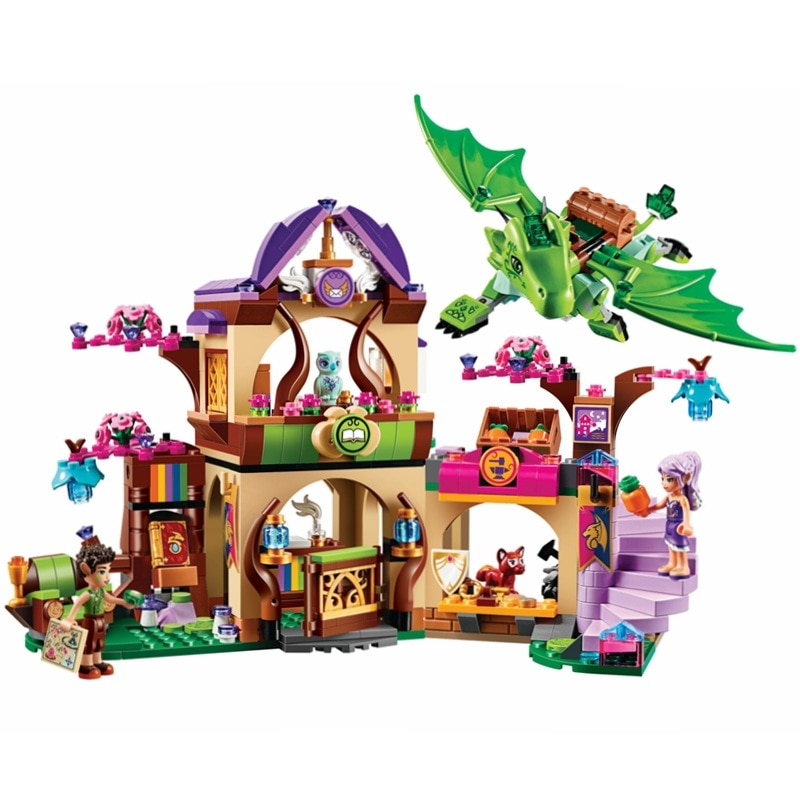 Nuevo Compatible lepining elfos Fairy Secret Place Fit Elves Fairy Friends figuras modelo Building Blocks ladrillos juguetes regalo