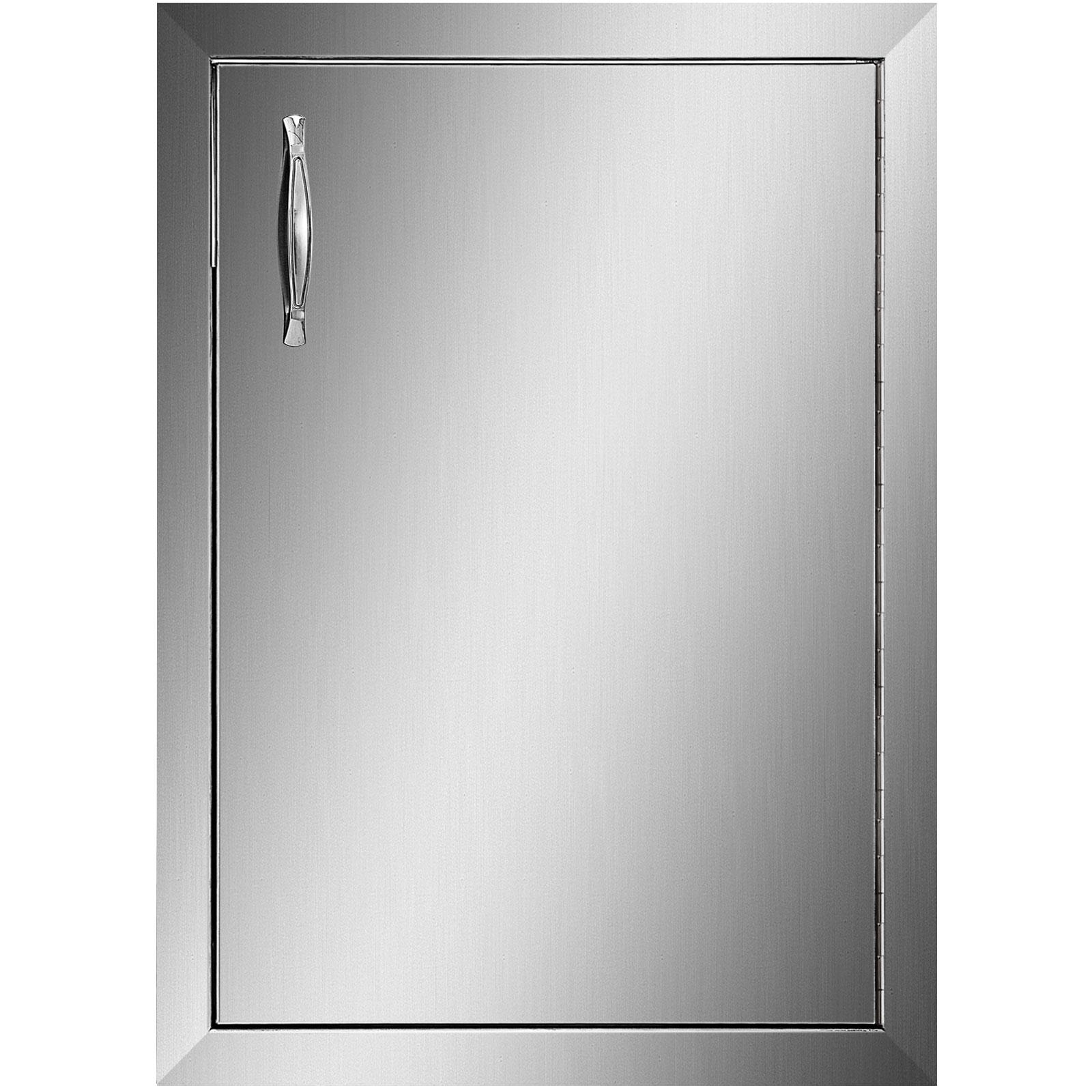 VEVOR باب واحد للشواء الوصول 16x22 بوصة يمين يسار متمحور الفولاذ المقاوم للصدأ محطة شواء في الهواء الطلق خزانة مطبخ شواء جزيرة الباب