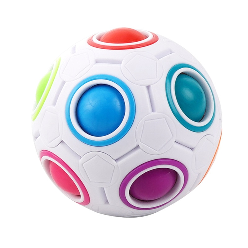 Intellectual Parent-child Toys Puzzle Decompression  Cube Magic Rainbow Ball Creative Finger Football Toy enlarge