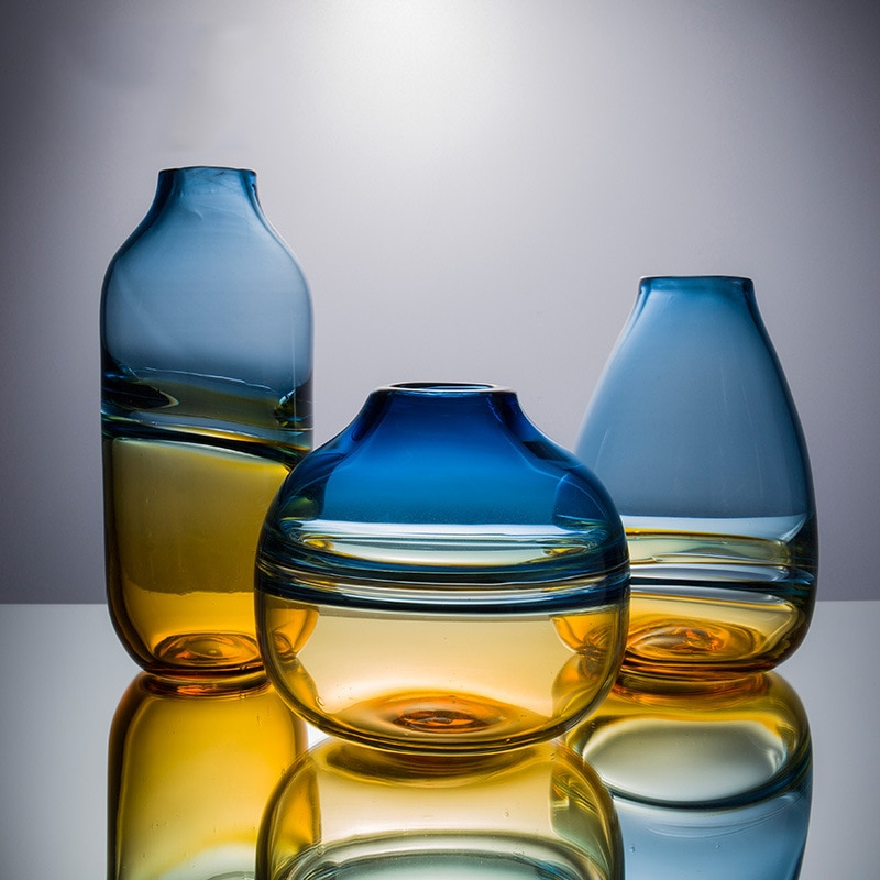 Ins Nordic Vases Home Decor Modern Living Room Glass Flower Vaso Para Plantas Adornos Para Casa Decoracion Sala Glass Vase Wazon