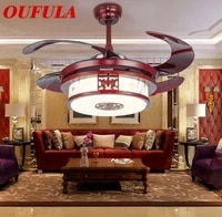 aosong modern ceiling fan lights with remote control invisible fan blade decorative for home foyer bedroom restaurant