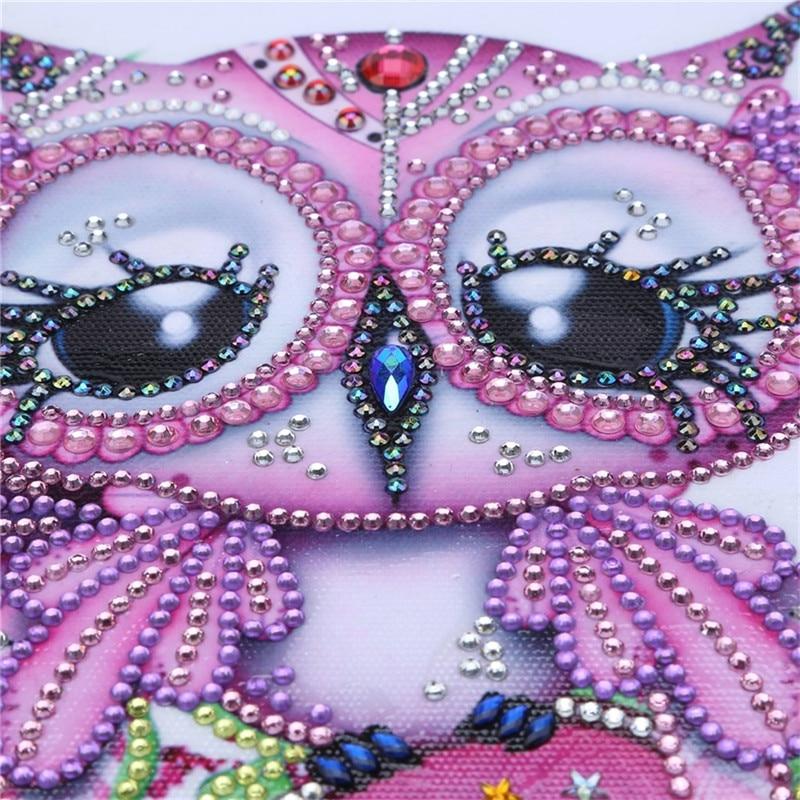 Dibujo animado, pintura de diamantes DIY 5d, punto de cruz, búho bonito, bordado, juguetes para niños, parcial, diamantes de imitación, bordado de diamantes 3D, arte artesanal