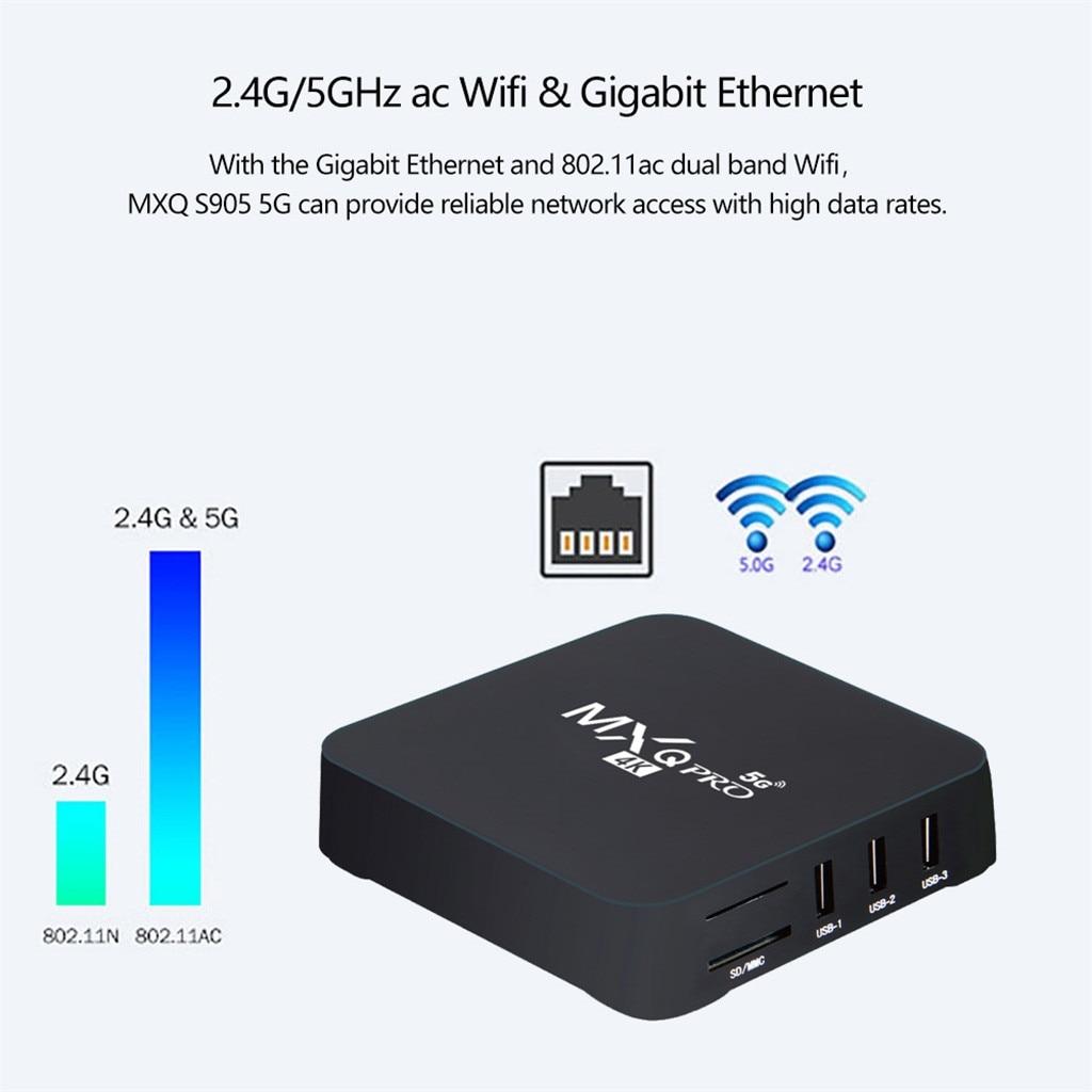#60 Mxq Pro 4k 2,4g/5ghz Wifi Android 9,0 Quad Core Dispositivo de...