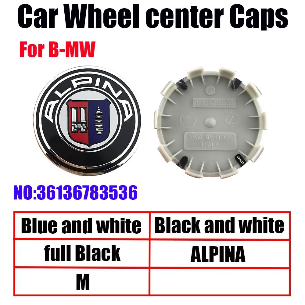 4 шт. 68 мм 56 мм белый blue10 pin Центральная втулка колеса автомобиля Шапки крышки обода крышки эмблемы для BMW 1 3 5 7X3X5 M3 M5 36136783536