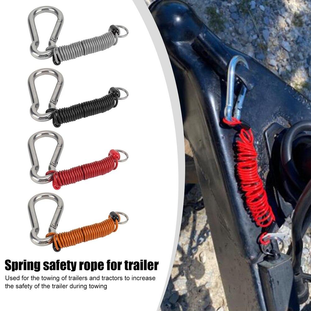 1X предохранительный кабель с пружинным зажимом, спиральные аксессуары для путешествий, прицепа, легкая установка, личные автомобильные эле...