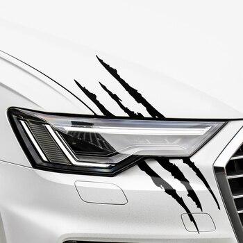 Car Sticker Monster Scratch Stripe Claw Marks for Ford focus fiesta  mondeo mk4 for mitsubishi outlander asx lancer