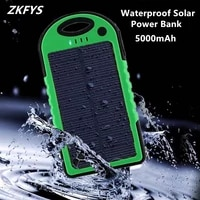 solar energy waterproof charger 5000mah power bank double usb external battery portable charger powerbank for xiaomi mi redmi