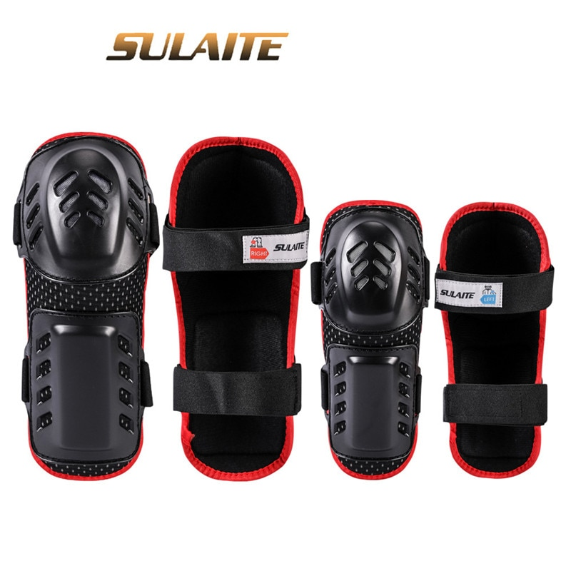 SULAITE 4pc Cycling Skating Motorbike Protective Gear Pads Knee Elbow Pads Wrist Guards Outdoor Sport Safety Protector for Adult enlarge