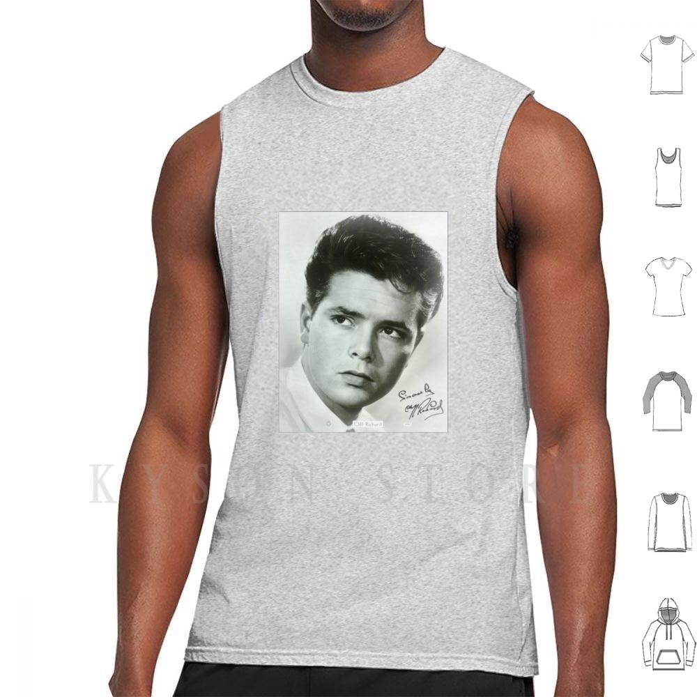 Cliff Richard Tank Tops Vest 100% Cotton Tribute Autograph Cliff Richard Sincerely Miss You Nights Sold The Creative