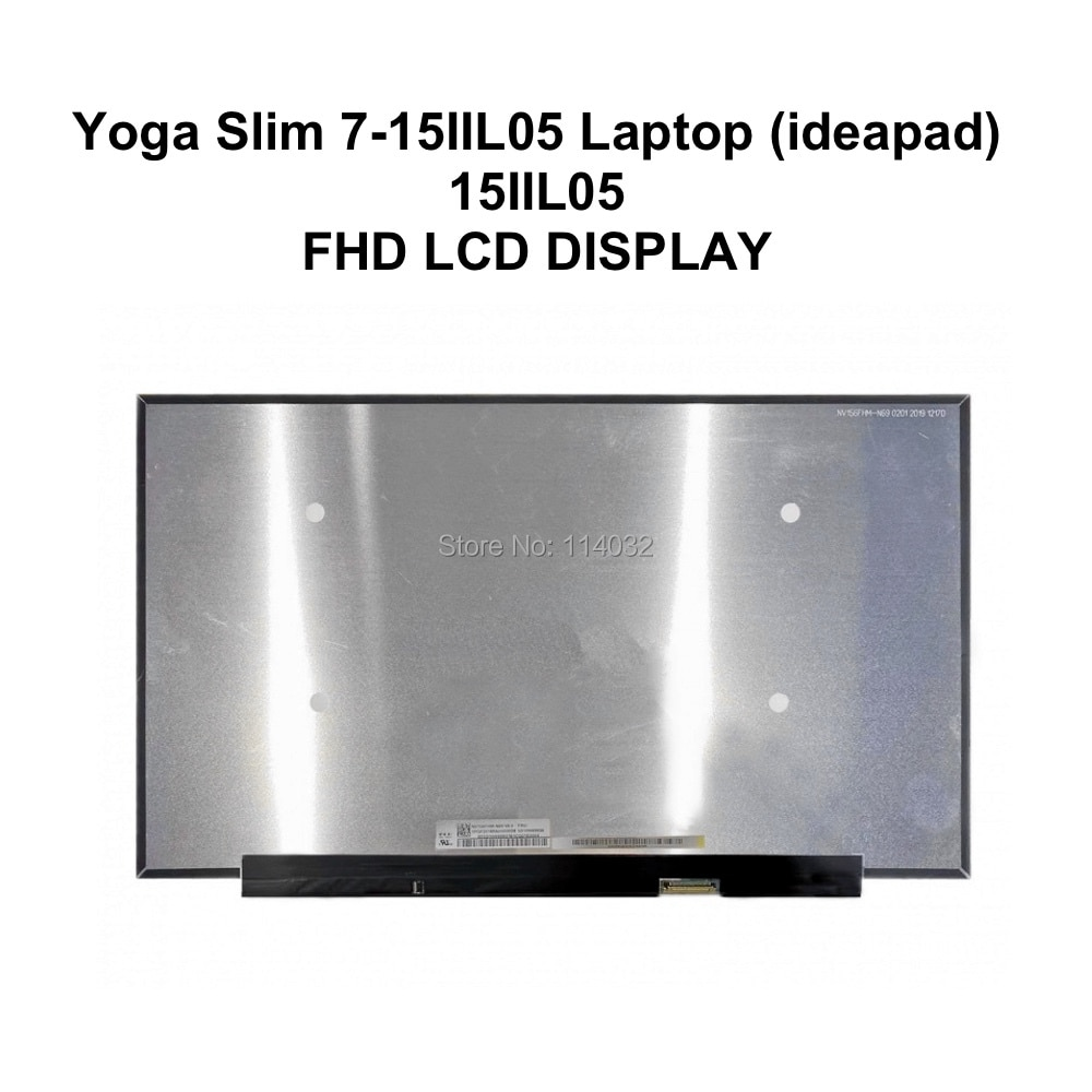 "15,6 ""Slim LED LCD de matriz de pantalla para LG LP156WFE-SPB1 para Lenovo IdeaPad Slim 7 15IIL05 Ultrabooks Yoga Slim 7 Serie 5D10W69927"
