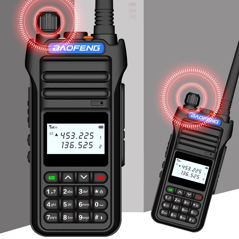 Baofeng BF-8000D 10W 30km Walkie Talkie High Power Dual Band Handheld Two Way Radio Communicator HF Transceiver Amateur Handy enlarge