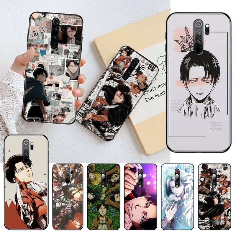 Funda de móvil CUTEWANAN Anime Attack On Titan, Levy Ackerman para Redmi Note 9 8 8A 8T 7 6 6A 5 5A 4 4X 4A Go Pro