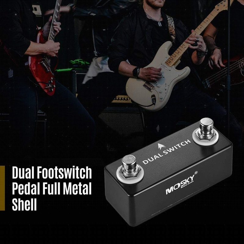 MOSKY DUAL SWITCH Guitar Pedal Dual Footswitch Foot Switch Guitar Effect Pedal Full Metal Shell Guitar Parts & Accessories enlarge