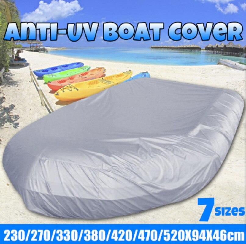 Резиновый чехол для лодки, 7 размеров, водонепроницаемый чехол для защиты от УФ-лучей, пыли, надувной лодки, защита для хранения