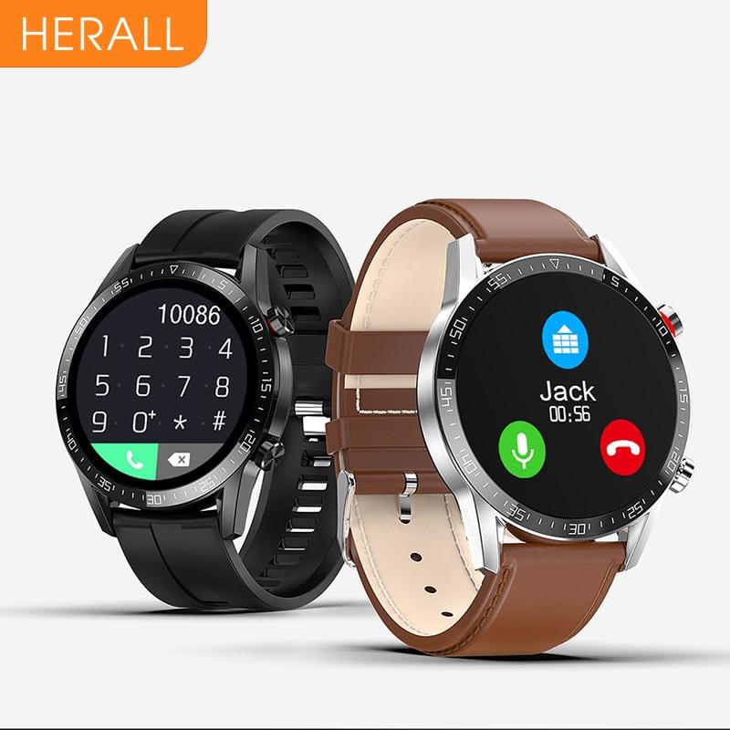 HERALL 2021 Smart Watch Bluetooth Call Smartwatch Men Women Waterproof Sport Fitness Bracelet For Android Apple Xiaomi Honor