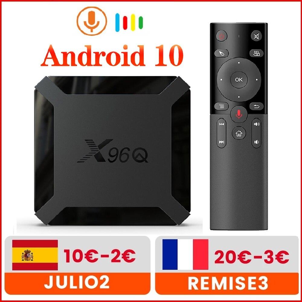 X96Q TV Box Android 10 2GB 16GB Allwinner H313 Quad Core 4K 60fps Smart TVBOX Wifi Google Player You