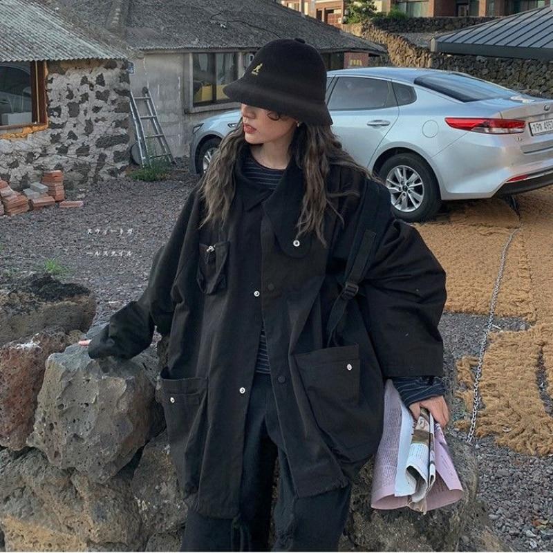 Весенняя модная женская куртка, регулируемая Женская верхняя одежда в стиле Харадзюку, базовые куртки, женская уличная одежда в стиле «бойф...