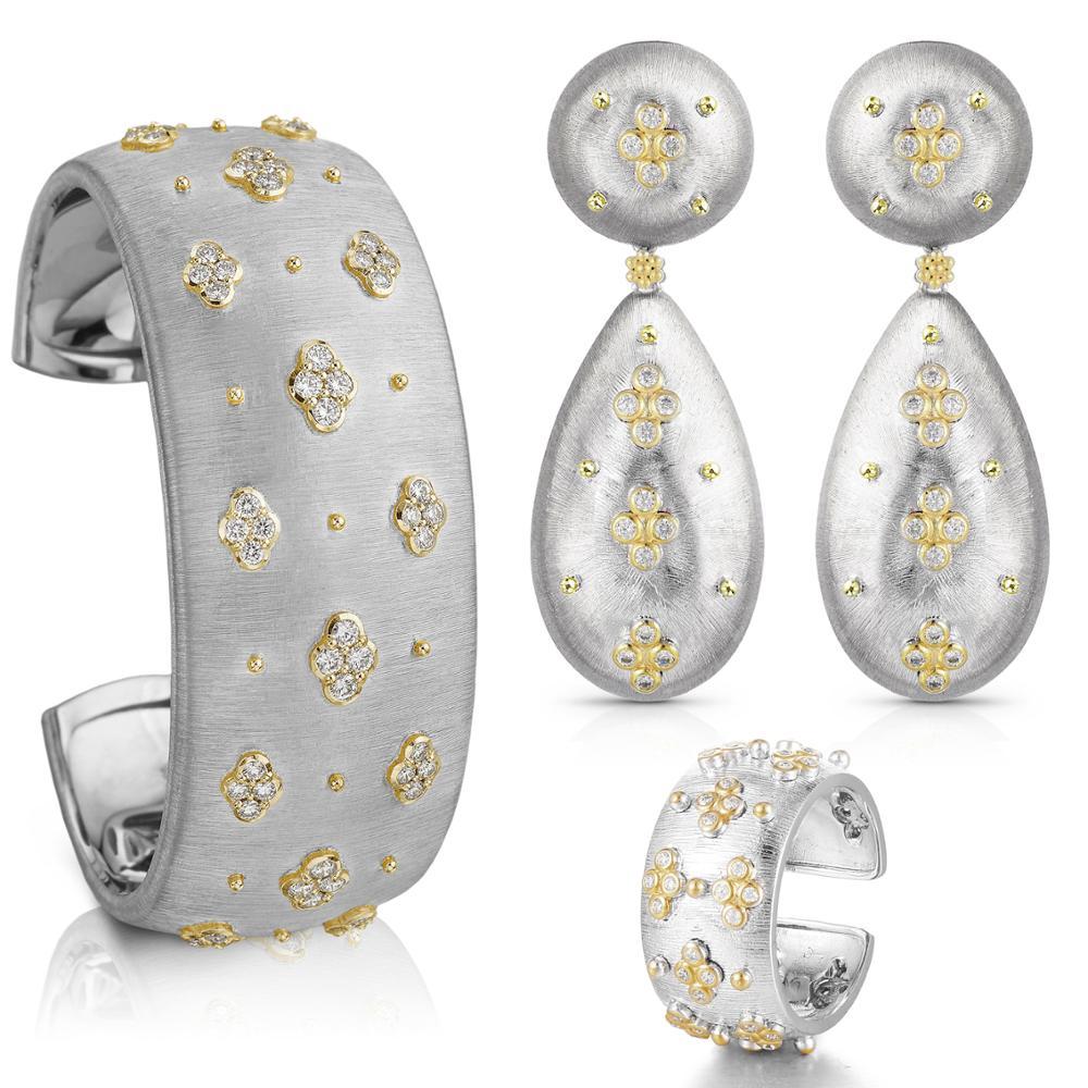 GODKI الشهيرة تصميم الفاخرة 3 قطعة سوار حلقة القرط مجموعات للنساء الزفاف زركون دبي حزب مجوهرات بوهو 2020