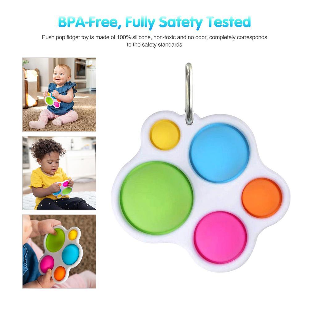 Popit Fidget Sensory Toy Set Stress Relief Toys Autism Anxiety Relief Stress Pop Bubble Fidget Sensory Toy Set For Kids Adults enlarge