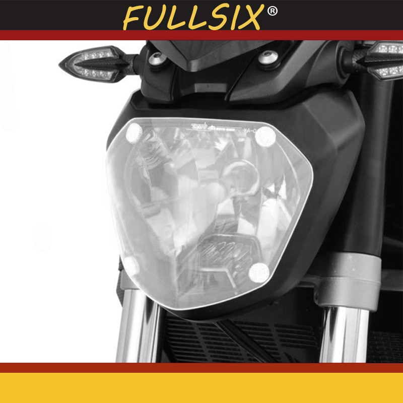 Cubierta protectora de acrílico de faro frontal de alta calidad para motocicleta Yamaha MT07 MT-07 FZ 07 2013-2017