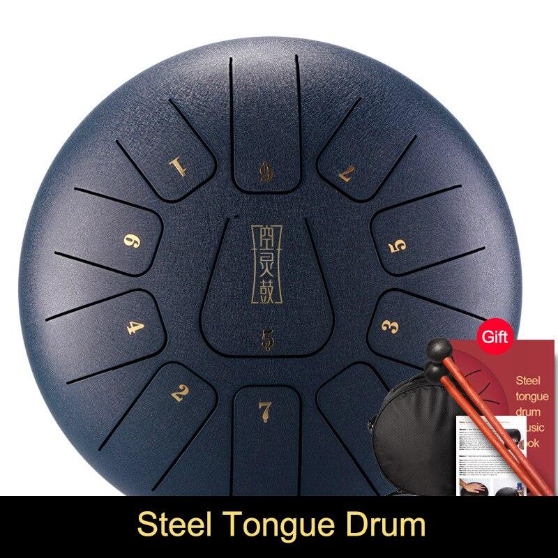 Großhandel Legierung Stahl Zunge Trommel 8 Zoll 11 Töne mit 1 Paar Schlägel + Lagerung Trommel Tasche X85