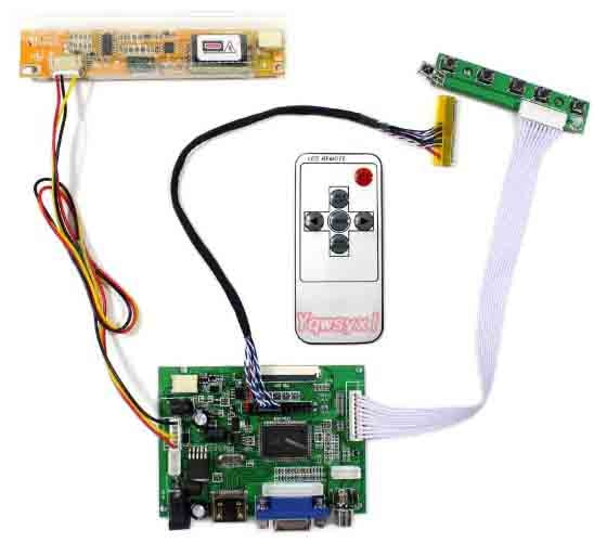 Yqwsyxl HDMI + VGA 2AV placa controladora LCD trabajo para pantalla LCD de 14,1 pulgadas LTN141AT03 M141NWW1 QD14TL01 B141EW01 LP141WX3 1280x800
