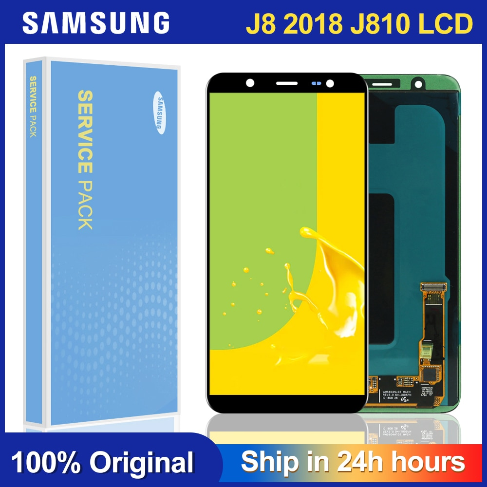 Pantalla LCD Super AMOLED de 6,0 pulgadas para SAMSUNG J8 2018 LCD para Samsung J810 J8 2018 LCD pantalla Touch digitalizador Asamblea
