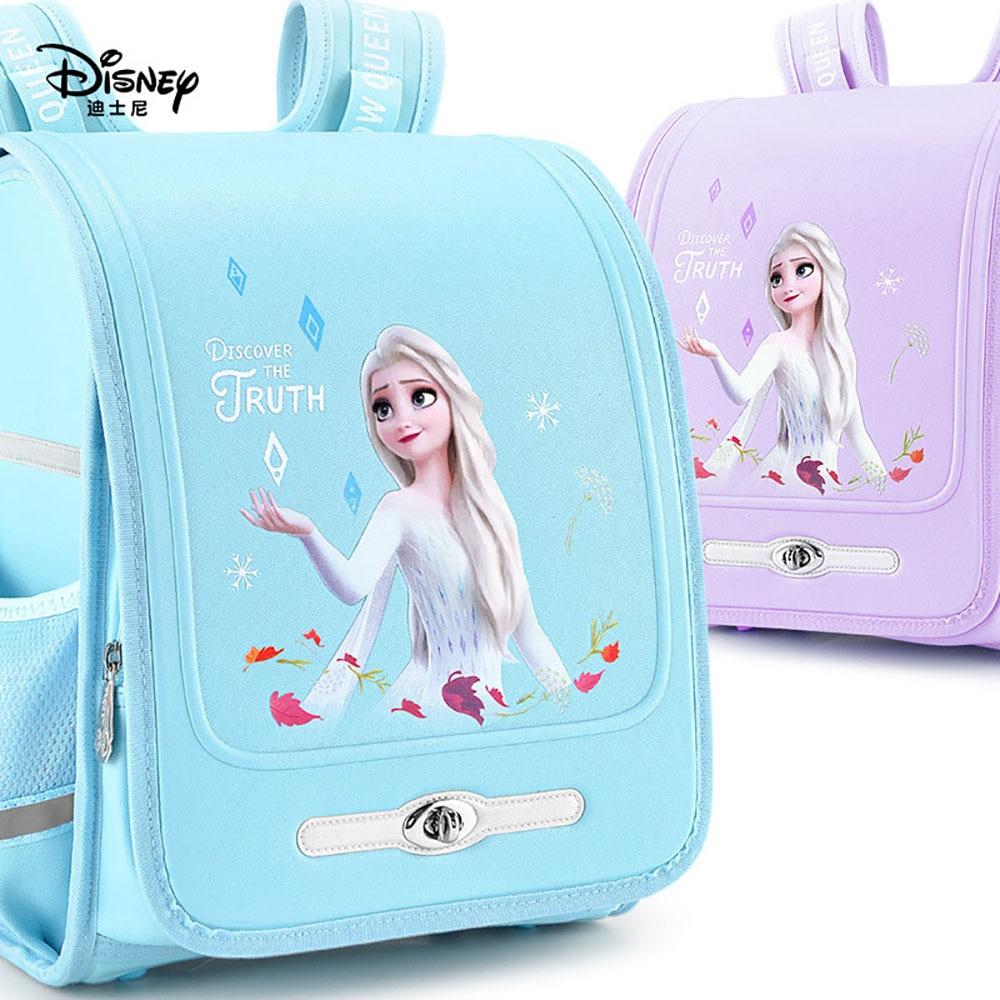 Disney Frozen School Bag Elementary School Fashion Women Cute Aisha Anna Princess Backpack Kindergarten Children Boys Girls Bags