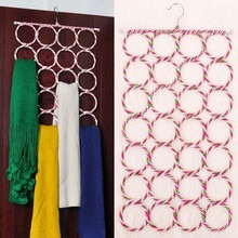 Hot Eco Scarf Hanger Scarves Display Hang Ties Belt Organize Circle Storage Holder Random Color