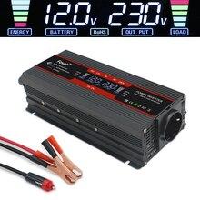 Convertisseur de puissance 6000W cc 12V à AC   Convertisseur de tension 220V, transformateur de tension 2 USB pour voiture