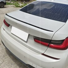 CEYUSOT For V STYLE Spoiler Accessories BMW 3 Series G20 320i 325i 330i  PU Material Car Trunk Black