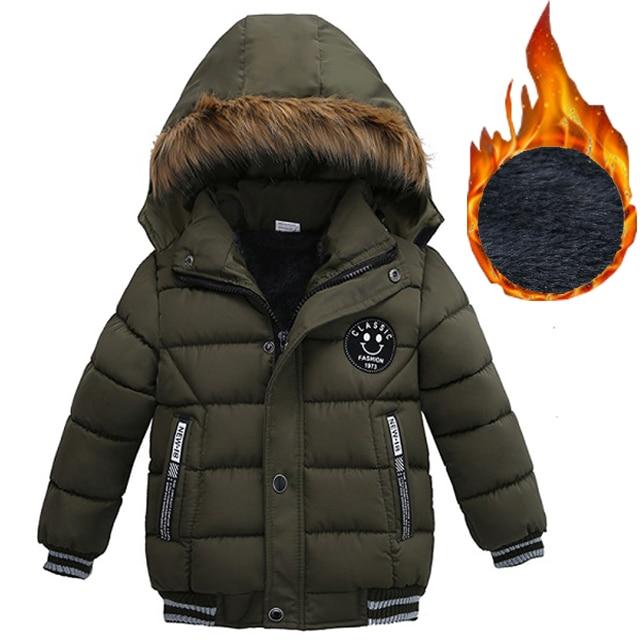 2019 Autumn Winter Baby Boys Jacket Jacket For Boys Children Jacket Kids Hooded Warm Outerwear Coat