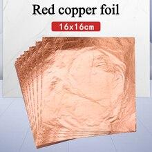Livraison gratuite 100 pièces Art artisanat papier Imitation or argent feuille de cuivre feuille papier dorure Art accessoires bricolage artisanat décoration