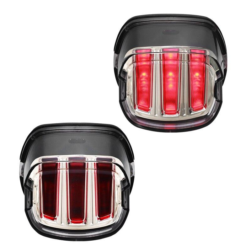 دراجة نارية مصابيح مصباح LED للمكابح الذيل ضوء الحاجز حافة الضوء الأحمر موتو ل هارلي FXSTB سوفتيل سبورتستر الطريق الملك إلكترا الإنزلاق