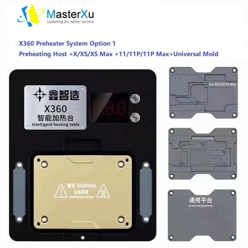 XZZ X360 لوحة مزدوجة/الوجه نقطية التسخين المسبق منصة إصلاح آيفون X XS XS ماكس 11 برو ماكس كما ميكانيكي ix5
