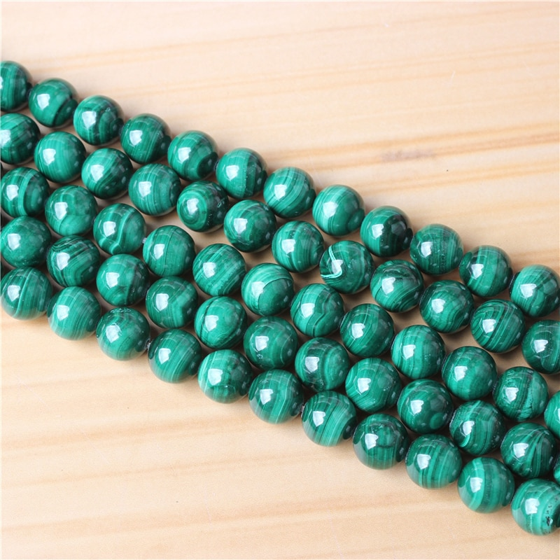 Malachite 4/6/8/10/12mm Natural Gem Stone Polished Smooth Round Beads For Jewelry Making DIY Bracelets