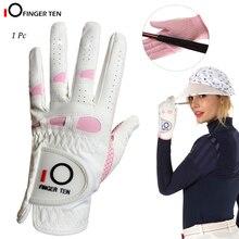 Gants de Golf pour femmes, poignée de pluie, pour gaucher et droitier, 1 pièce, adapté pour toutes les intempéries, taille S M, L XL