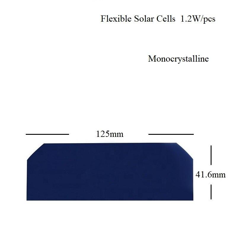 Células de Energia Painel Solar Flexível – 3 Sunpower Mono Silício Cristalino Célula 0.5v 1.2w Alta Eficiência 23% Diy 1