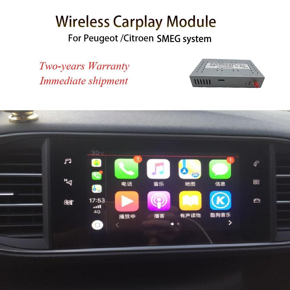 WIFI اللاسلكية أبل Carplay سيارة اللعب لبيجو 308 2013 2014 2015 2016 2017 SMEG / SMEG + الروبوت مرآة دعم الخلفية الجبهة CM