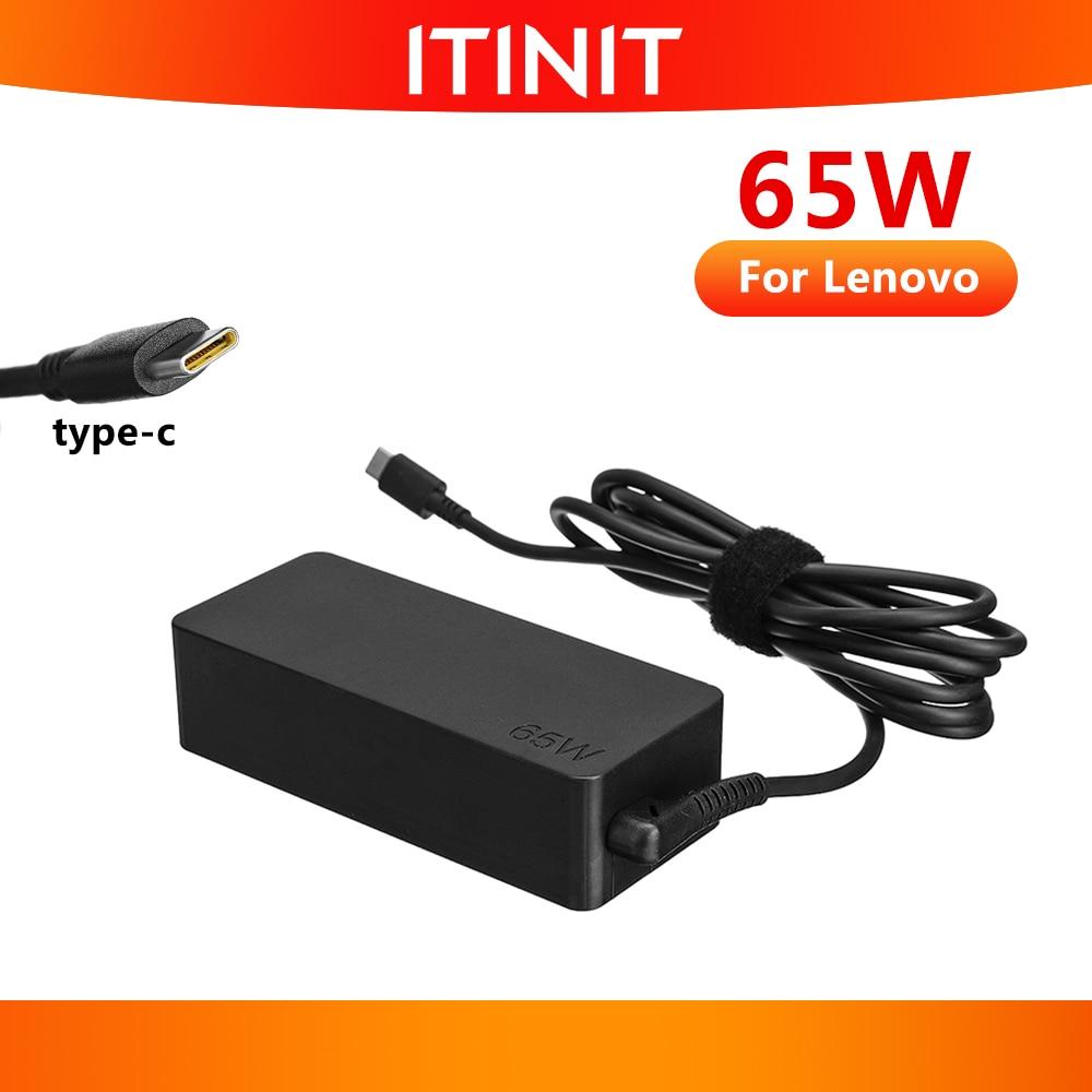 ITINIT C19 65 واط نوع C محول USB C شاحن الكمبيوتر المحمول لينوفو ثينك باد X1 الكربون E480 E580 T480 T480s T580 X280 X380 L380 L480