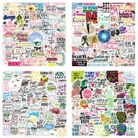 50pcs motivational stickers for notebooks stationery laptop notepad cute aesthetic sticker scrapbooking material craft supplies
