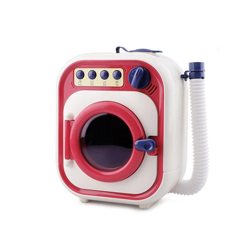 Máquina de lavado para niños, juguete de simulación, Mini Casa de juego eléctrica, lavadora, juguete para niña, regalo de Navidad, juguetes de limpieza