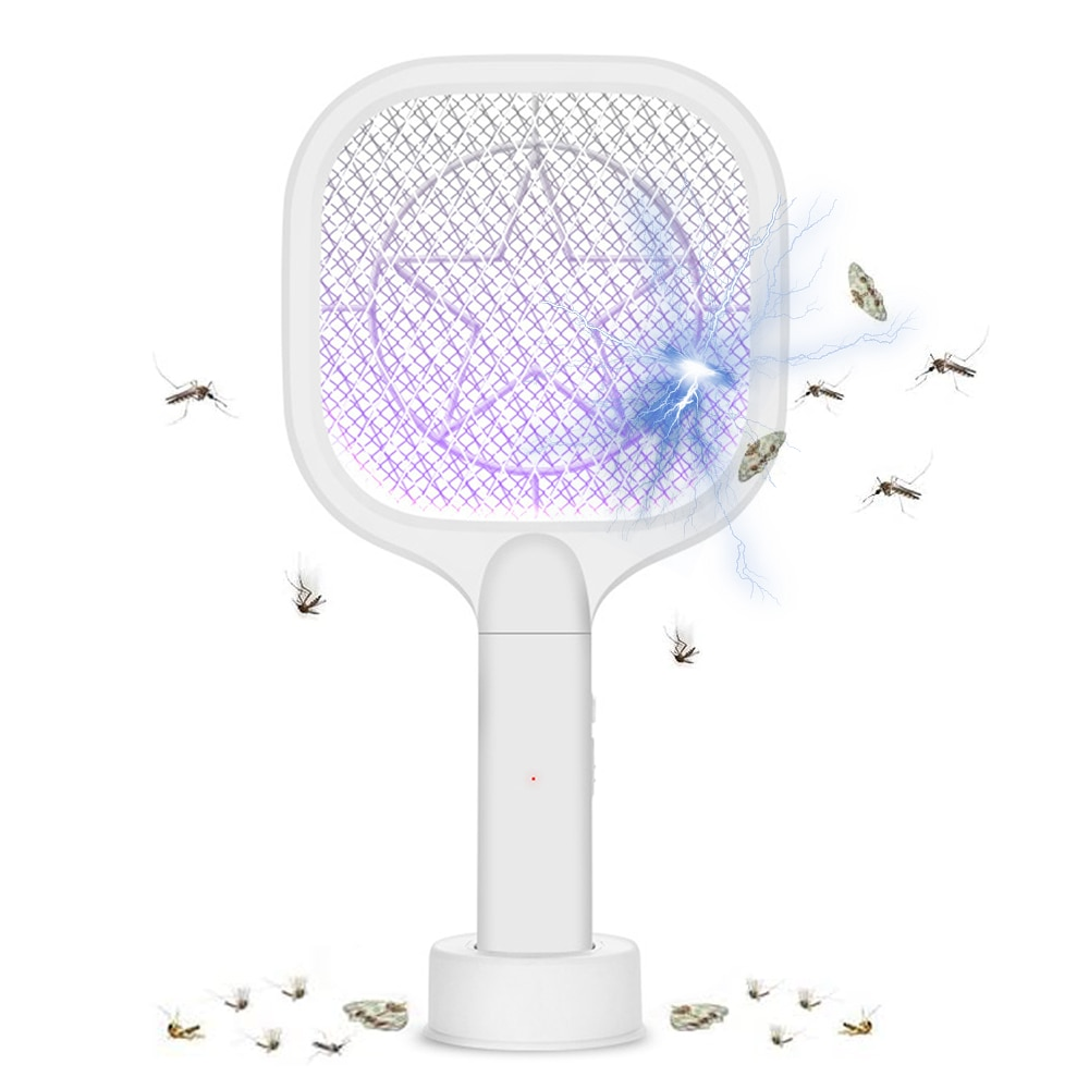 electric mosquito killer swatter home pest control handheld mosquito racket insect bug racket zapper fly mosquito killer trap 3000V Electric Insect Mosquito Racket Swatter Zapper USB 1200mAh Rechargeable Mosquito Swatter Kill Fly Trap Bug Zapper Killer