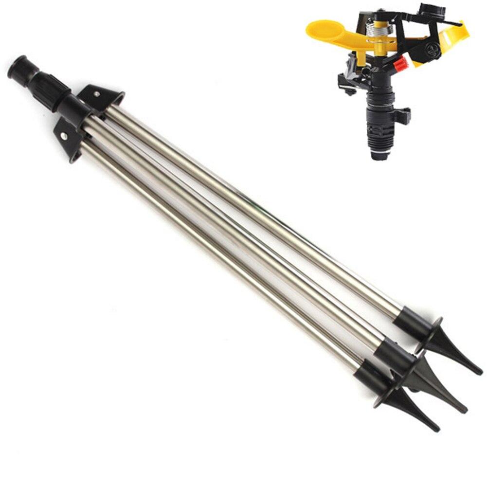 Jardim de Aço Thread Grama Irrigação Rotatable Sprinkler Tripé Inoxidável Gramado Ajustável 4