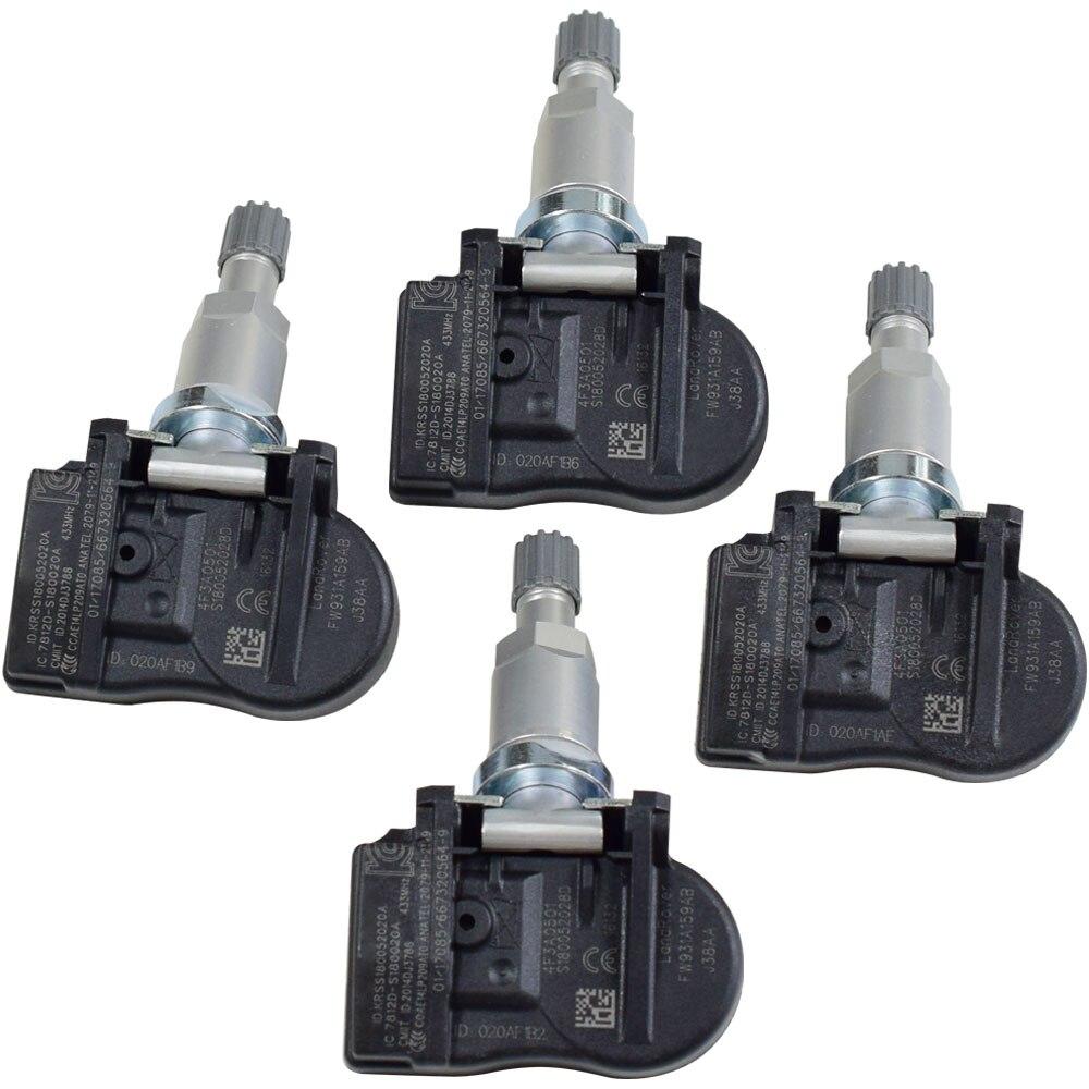 4 Uds para Land Rover Citroen C4 C5 C6 C8 neumático de coche de control de la presión de Sensor de sistema 433Mhz 9681102280 FW931A159AB Sensor TPMS