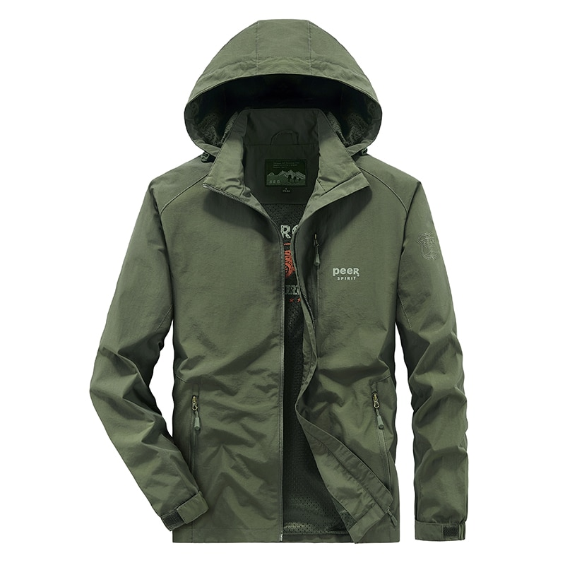 spring summer jacket men thin lightweight hooded military army tactical bomber jacket breathable outdoor sports windbreakers men