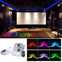 NEW Fiber Optic Light Twinkle RGB LED 32W Smartphone APP Bluetooth Control 830pcs(0.75mm+1.0mm+1.5mm+2.0mm) for Stary Ceiling