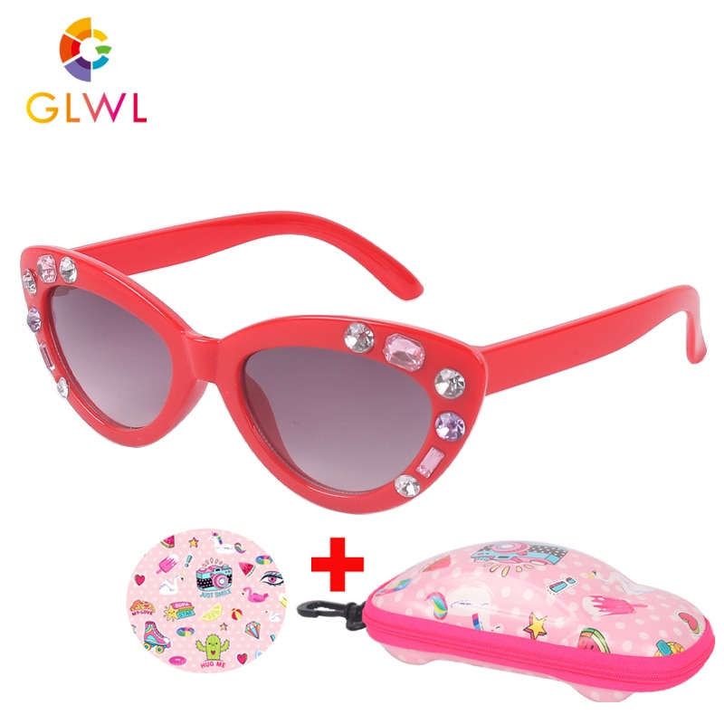 Kids  Sunglasses Boys  Sun Glasses Children's Sunglass Baby Eyeglasses With Car Case Eyewear For Gir
