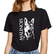 Hauts t-shirt femmes malinois berger belge malines maligator Hip Hop Vintage imprimé femme t-shirt