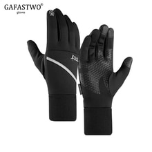 Winter Warm Touch Screen Mens Gloves Outdoor Ski Waterproof Non-Slip Night Reflective Pocket Sports